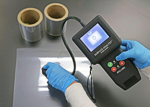 Surface Analyst testing polymer film