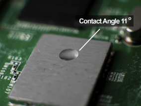 electronic-circuit-board-water-drop-contact-angle