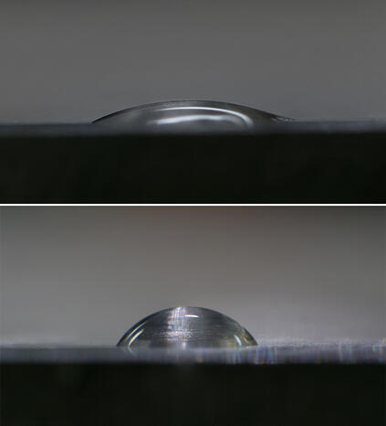 low-and-high-contact-angle